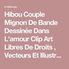 Hibou Couple Mignon De Bande Dessinée Dans L'amour Clip Art Libres De Droits , Vecteurs Et Illustration. Image 30338029.