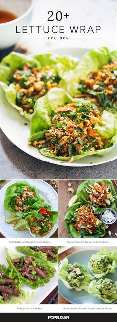 This collection of recipes draws inspiration from around the globe including Korean- Thai- Mexican- Greek- and Vietnamese-inspired lettuce wrap options. Keep reading to find your new favorite way to freshen up dinner. Healthy Snacks, Healthy Eating, Healthy Recipes, Healthy Vietnamese Recipes, Healthy Cooking, Healthy Food Options, Lettuce Wrap Recipes, Korean Lettuce Wraps, Thai Chicken Lettuce Wraps