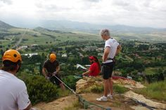 Abseiling near Bloemfontein with Clarens Xtreme. Bring over your family and friends to the Clarens Xtreme adventure zone in town for a great time. We are easy to find, 300 m from the main entrance to town. Just look out for the giant CX sign. African National Congress, Abseiling, Free State, Adventure Activities, Main Entrance, Rafting, Outdoor Power Equipment, South Africa, Things To Do