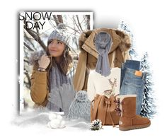 """Snow Day"" by elona-makavelli ❤ liked on Polyvore featuring WithChic, Johnstons, Dorothy Perkins, Rella, Citizens of Humanity, UGG and Care By Me"