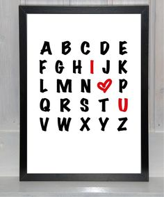 Liebes-ABC , I ♥ U ,  Ich liebe Dich von bei.werk ∞ things made by hand and shaped by age auf DaWanda.com