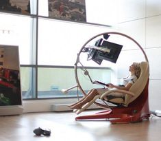 Computer Station, Computer Workstation, Gaming Desk, Computer Setup, Gamer Chair, Gaming Room Setup, Game Room Design, Futuristic Furniture, Office Setup