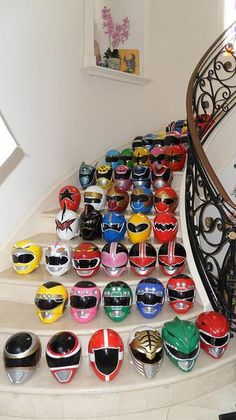 I found 'Mighty Morphin Power Ranger Helmet collection' on Wish, check it out! -