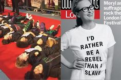 """Women Stormed The """"Suffragette"""" Movie Premiere Saying The Feminist Struggle Isn't Over - BuzzFeed News"""