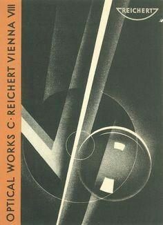 "Joseph Binder (b. 1898 -  d. 1972, Austrian), Graphic Cover of ""Optical Works C. Reichert Vienna VIII"""