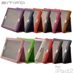 Apple iPad 2 SITIFA Leather Stand Case 10 Colors