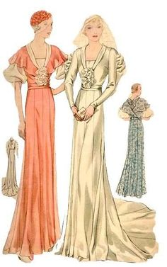 Free Vintage Gown Pattern - the pattern is directly above this photo on the page.