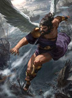 illustration for Immortal Conquest Fantasy Art Men, Fantasy Warrior, Fantasy Artwork, Greek Mythology Art, Greek Pantheon, Greek Gods And Goddesses, Angel Warrior, Ange Demon, Angel Art