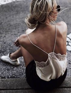 Open back cami.