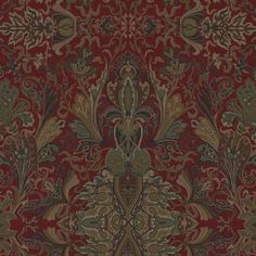 Lakota Paisley - Canterbury Red - Paisley - Fabric - Products - Ralph Lauren Home - RalphLaurenHome.com