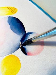 Aquarell: Abstraktes locker aus dem Nichts erschaffen! - Creative - Club Ink In Water, Watercolor Sketch, Diy Canvas, Illustrations, Art Drawings, Abstract Art, Artsy, Creative, Artwork