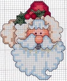 Santa... No color chart available, just use colors on the pattern chart as your guide
