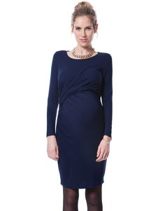 Soft stretch fabric   Discreet lift up nursing   Flattering side ruching   Long sleeves   Above the knee    An instant style classic; our gorgeous Navy Maternity & Nursing Dress will make an invaluable addition to your maternity closet. Made in the softest stretch jersey, and stylishly ruched to one side; this dress is designed to flatter your figure throughout pregnancy and beyond. Featuring discreet lift up nursing access at the front, it makes a seamless transition from maternity wea...