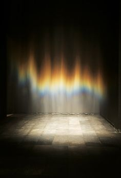 Olafur Eliasson - beauty    Just mist and a light create a rainbow - beauty is in the eye of the beholder
