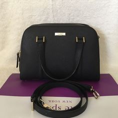 """⚜Kate Spade⚜Newbury Lane Felix Small ✨Brand New With Tag and Bag•Guarantee Authentic✨also available in color WHITe•pls check out my closet if interested :)   ONLY $165 on Viinted or Mercarii  Size: small Leather with 14-karat gold hard ware 8.5x11.5x5 Double handle with 4"""" drop, comes with adjustable strap that can be worn on shoulder or cross-body Zip top closure with double pulls, flat bottom with protective feet Interior zip, cell phone and multifunction pockets kate spade Bags Satchels"""