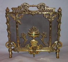 french fire screen | Antique french 19th century fireplace screen. | Fire Screens / Firepl ...