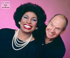 Self portrait of photographer Jack Mitchell and Leontyne Price