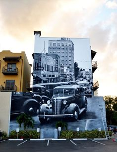 Keeping things classic with vintage photography street art.