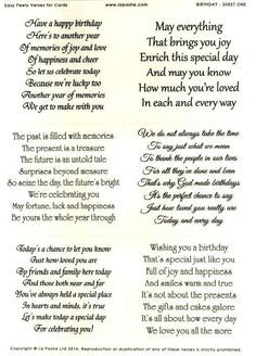 Use these greeting card messages to help you find the perfect thing la pashe easy peely verses for cards birthday 1 m4hsunfo