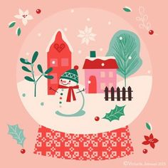Illustration Christmas print & pattern: XMAS 2013 - victoria johnson