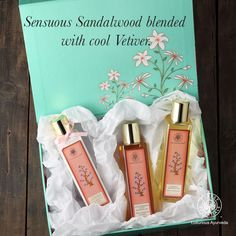 Enjoy our Sandalwood and Vetiver range, a lovely combination of beneficial ingredients and earthy fragrances. Sandalwood retains moisture levels and tones the skin while Vetiver is cooling.