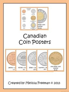 7 Canadian coin posters to use in your classroom!