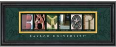 The pictures spell Baylor! All of our products are officially licensed by the University.  #baylor @Baylor Stranton Alumni Association  @Baylor Stranton Stranton