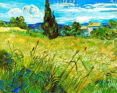 Vincent Van Gogh, Green wheat field with cypress, 1889, Narodni Galerie, Prague