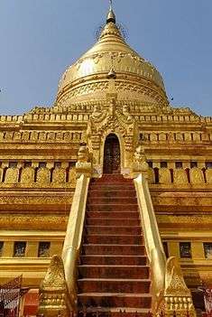 Shwezigon Pagoda, Bagan (Nyaung U), Myanmar