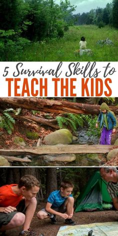 camp survival 5 Survival Skills to Teach the Kids I have been accosted on prepper forums about teaching kids survival skills at a young age. That said, I went ahead and did it anyway. These skills help your child understand the world a little better. Kids Survival Skills, Survival Supplies, Survival Food, Camping Survival, Outdoor Survival, Survival Knife, Survival Prepping, Survival Hacks, Emergency Preparedness