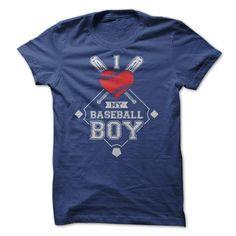 I Love My Baseball Boy T Shirts, Hoodies. Get it now ==► https://www.sunfrog.com/Sports/I-Love-My-Baseball-Boy-Tees.html?57074 $19