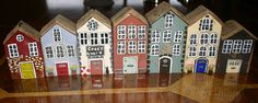 SMALL PAINTED DRIFTWOOD HOUSES