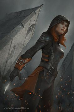 """we-are-rogue:  """"Avenger's Creed: Black Widow by VincentiusMatthew  """""""