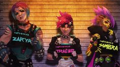 Zarya Tracer and Sombra Overwatch Girls Wallpaper