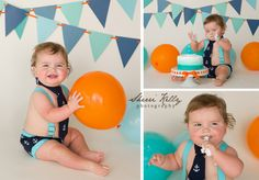 Tampa Family Photographer Sherri Kelly - Boy's First Birthday Cake Smash session