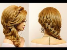 Braided hairstyle for party, everyday. Long hair tutorial - YouTube