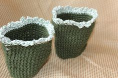 Green And Frilly Women's Crochet Boot Cuffs by SisterHippies, $10.00