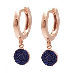 JADA Mira earrings with blue sapphires