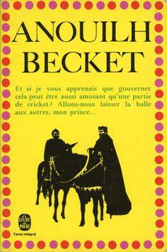 Becket, published by Le Livre de Poche, Paris, 1969. Design: Atelier Pierre Faucheux. Photograph: Paramount Prince, Book Writer, Book Covers, Writers, Paris, Books, Design, Letters, Graphic Design