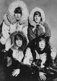 The Beatles dressed as Eskimos at the Hammersmith Odeon, London, December They are rehearsing for their upcoming Christmas show. Clockwise from top left, George Harrison Ringo Starr, John Lennon – and Paul McCartney. Ringo Starr, George Harrison, The Beatles, Beatles Photos, Paul Mccartney, John Lennon, Terry O Neill, Stuart Sutcliffe, Steve Mcqueen