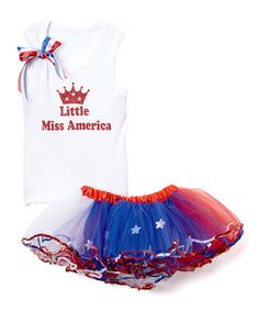 Another great find on #zulily! White 'Miss America' Tank & Pettiskirt - Infant, Toddler & Girls #zulilyfinds