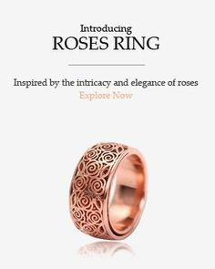 This timeless ring is inspired by the intricate details of roses.