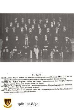 1981 - St.8/30 Hoërskool Wesvalia Jaco, Movies, Movie Posters, Films, Film Poster, Cinema, Movie, Film, Movie Quotes