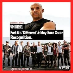 "Vin Diesel: #Fast 8 is ""Different"" & May Earn Oscar Recognition  #Furious8 #FastandFurious #Vindiesel #different #Earn #Oscar #Oscars #recognition #Movie #movies #action #cantwait #family #film #film #Coming #comingsoon #F8"