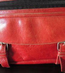 Piros bőr táska Rebecca Minkoff Mac, Zip Around Wallet