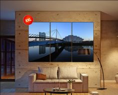 Glasgow's River Clyde canvas art prints large wall art canvas print Glasgow Wall Home office decor interior Office Decor