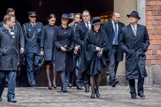 APRIL 09: The Swedish royal family attend the city of Stockholm's official ceremony for the victims of the recent terrorist attack on April 10, 2017 in Stockholm, Sweden. Four people died and fifteen were injured after a hijacked truck crashed into the front of Ahlens department store in Stockholm on April 7, 2017.