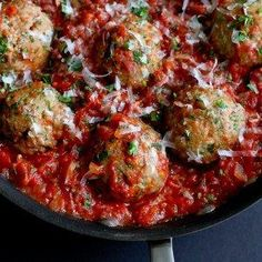 Meatballs are always a crowd pleaser. The ones in this Italian Turkey Meatball recipe happily wallow in a pan of homemade tomato sauce.