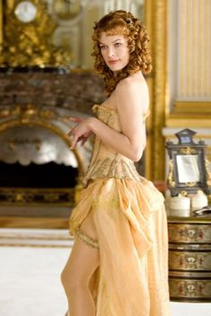 Milady in a beautiful corset.