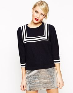 How adorbs is this retro, nautical top... I NEED!